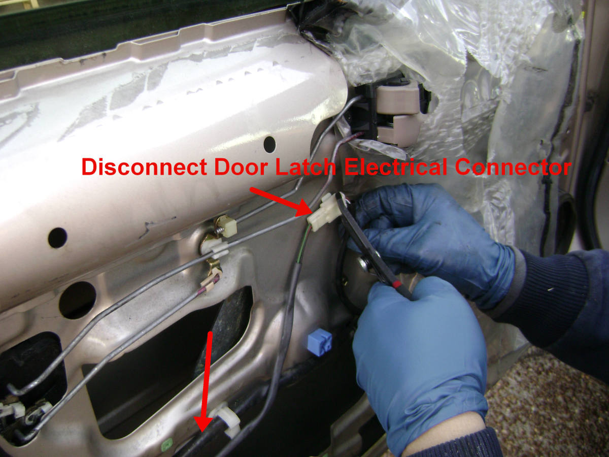 Toyota Camry Rear Door Electrical Fitting Disconnection