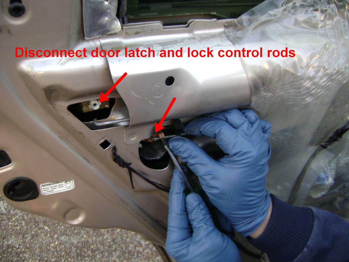 Toyota Camry Rear Door Lock and Handle Control Rod Detachment