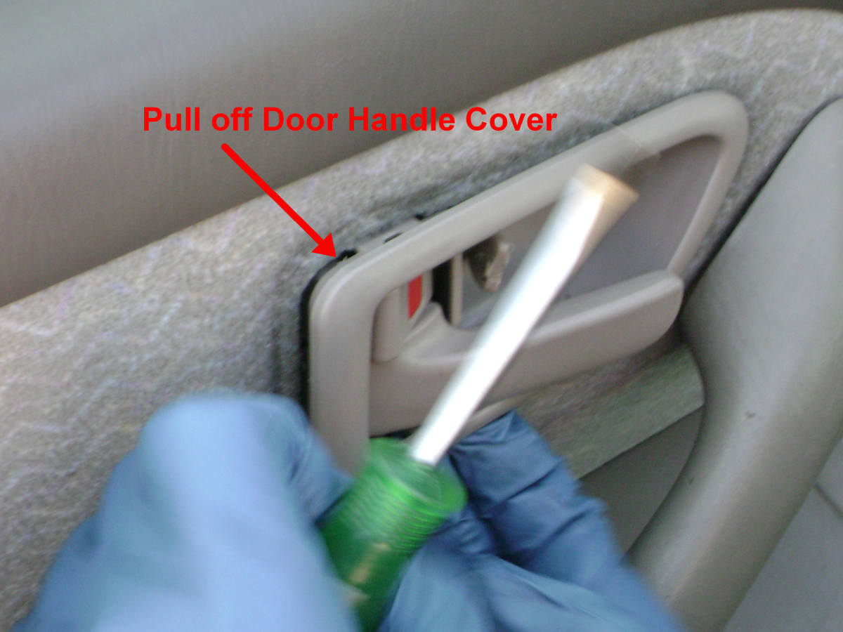Toyota Camry Rear Door Handle Bezel Removal 2
