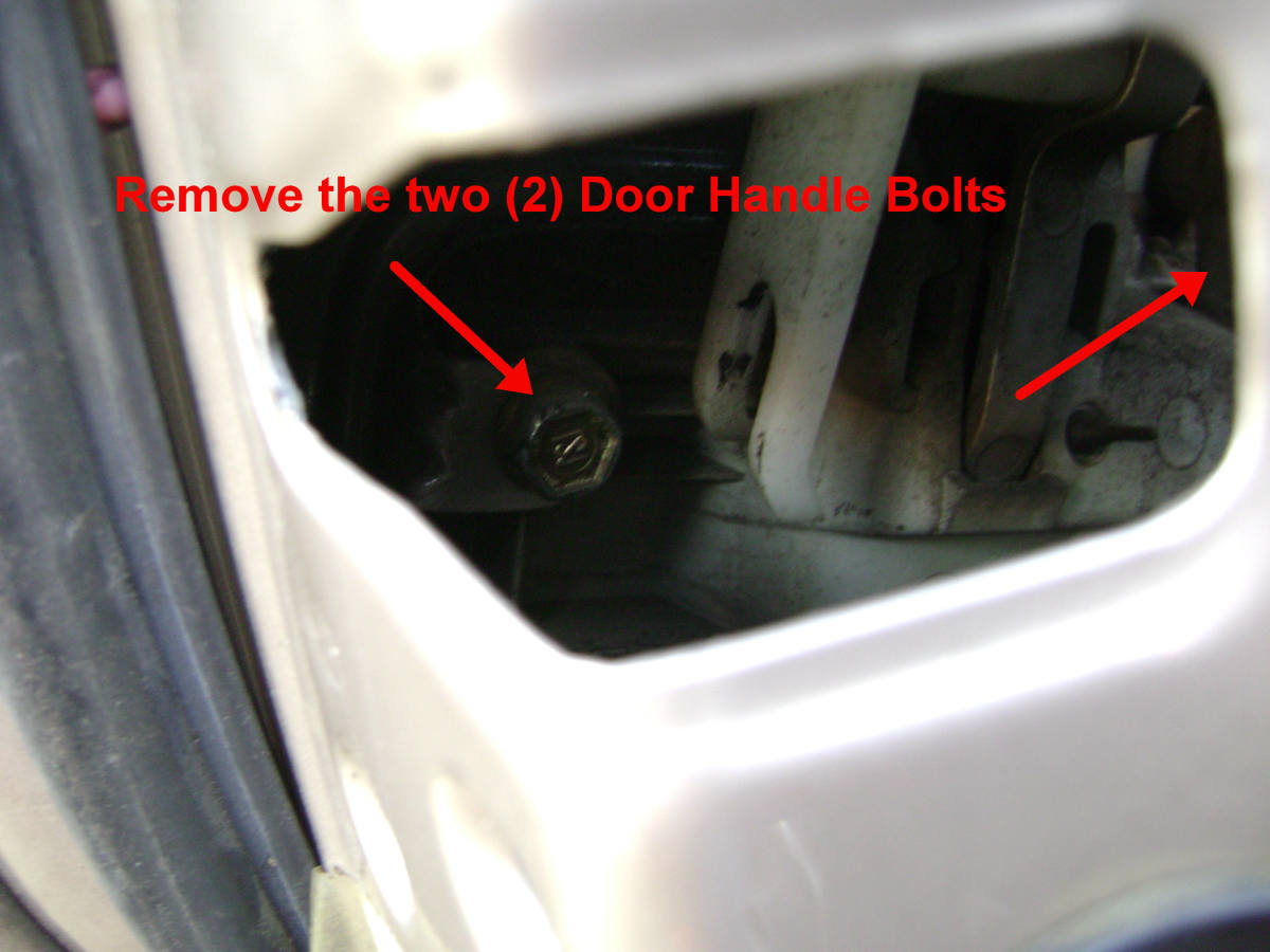 Toyota Camry Rear Outside Door Handle Mounting Bolt Removal