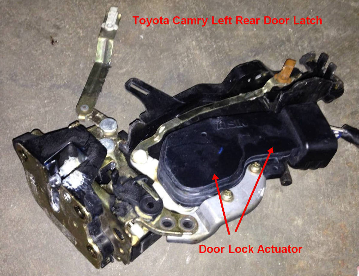 Toyota Camry Left Rear Door Latch with Door Lock Actuator