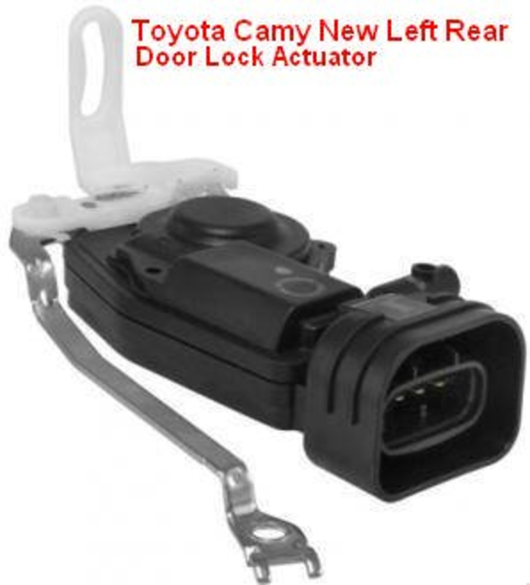 New Toyota Camry Left Rear Door Lock Actuator