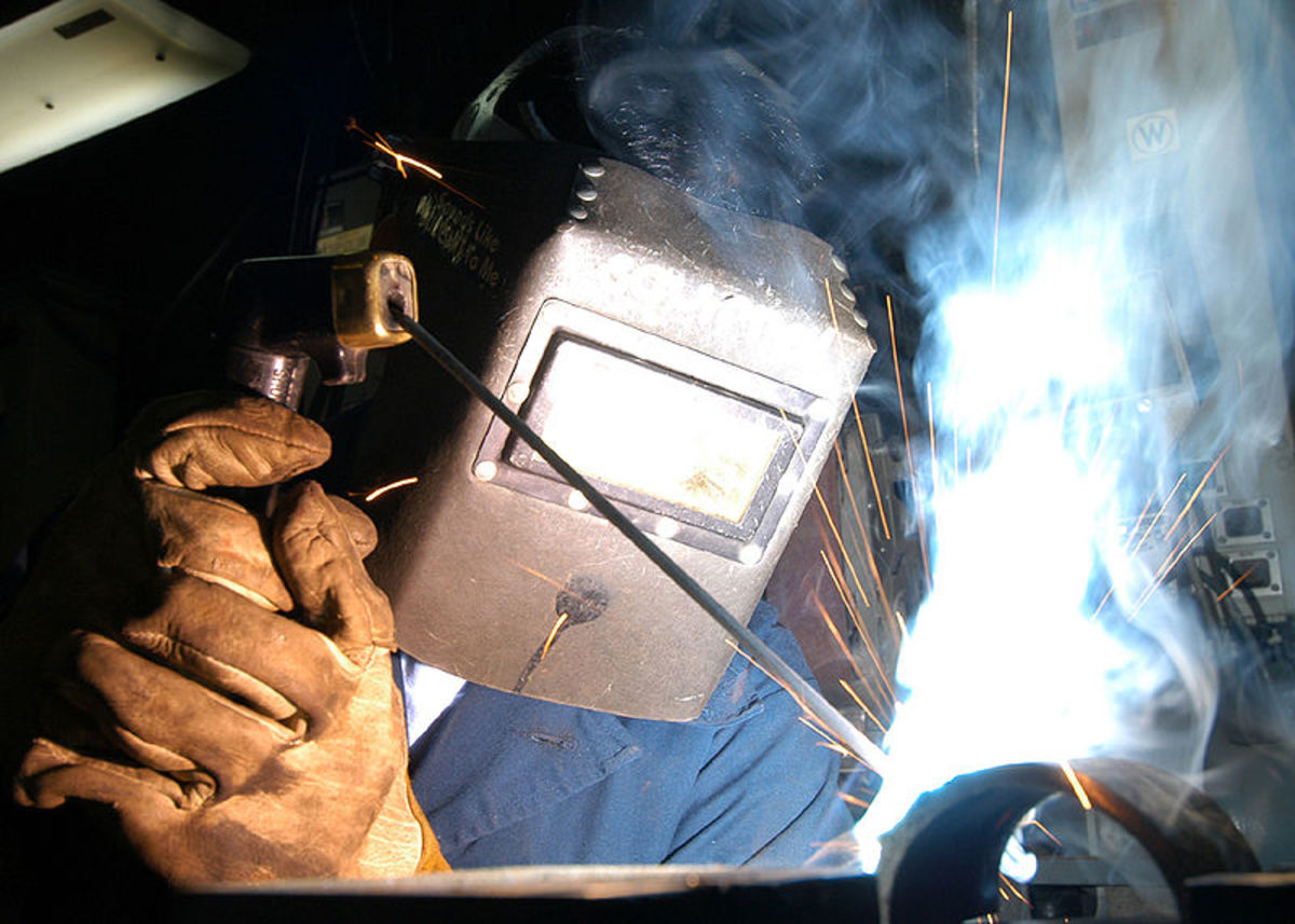 Stick Welding (also known as Arc Welding).