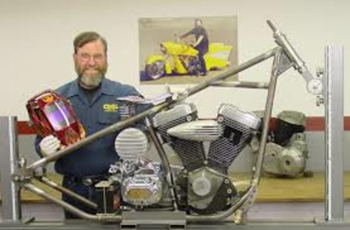 1. Ron Covell and his chopper frame build from his DVD: Building A Chopper Chassis.