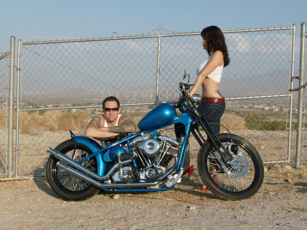 Michael Durham's bobber chopper build from the DVD set Build Your Own Bike (B.Y.O.B.), a must have.
