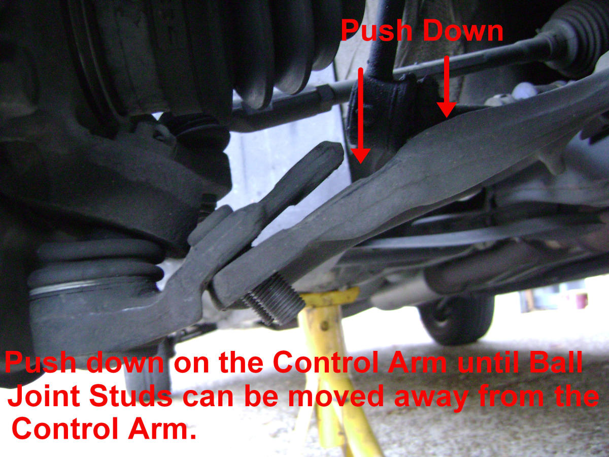 Camry Control Arm / Ball Joint Separation