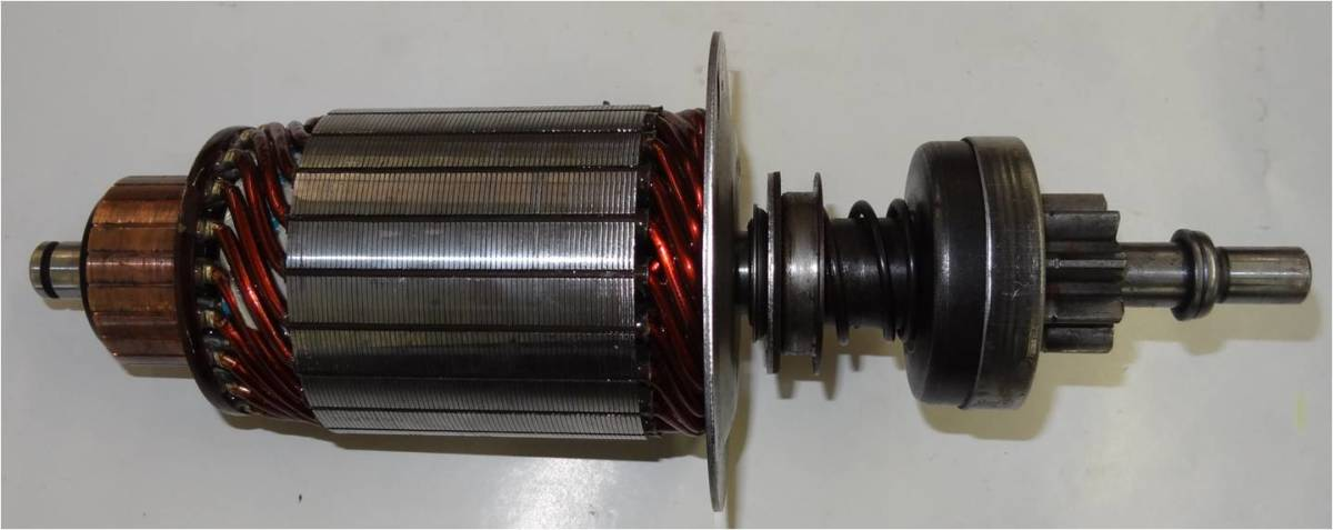 The armature is connected to the starter drive either directly or through a gear drive.