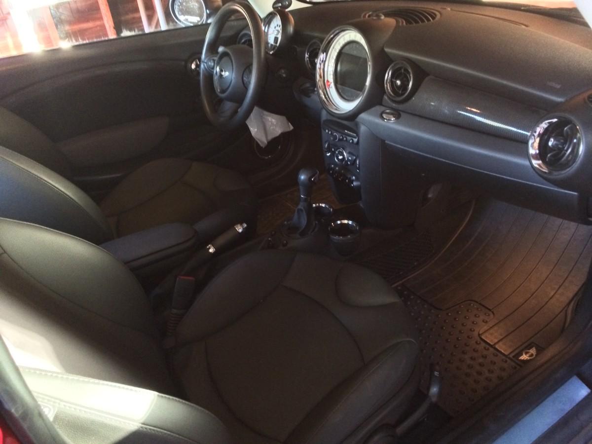 The interior of my MINI.