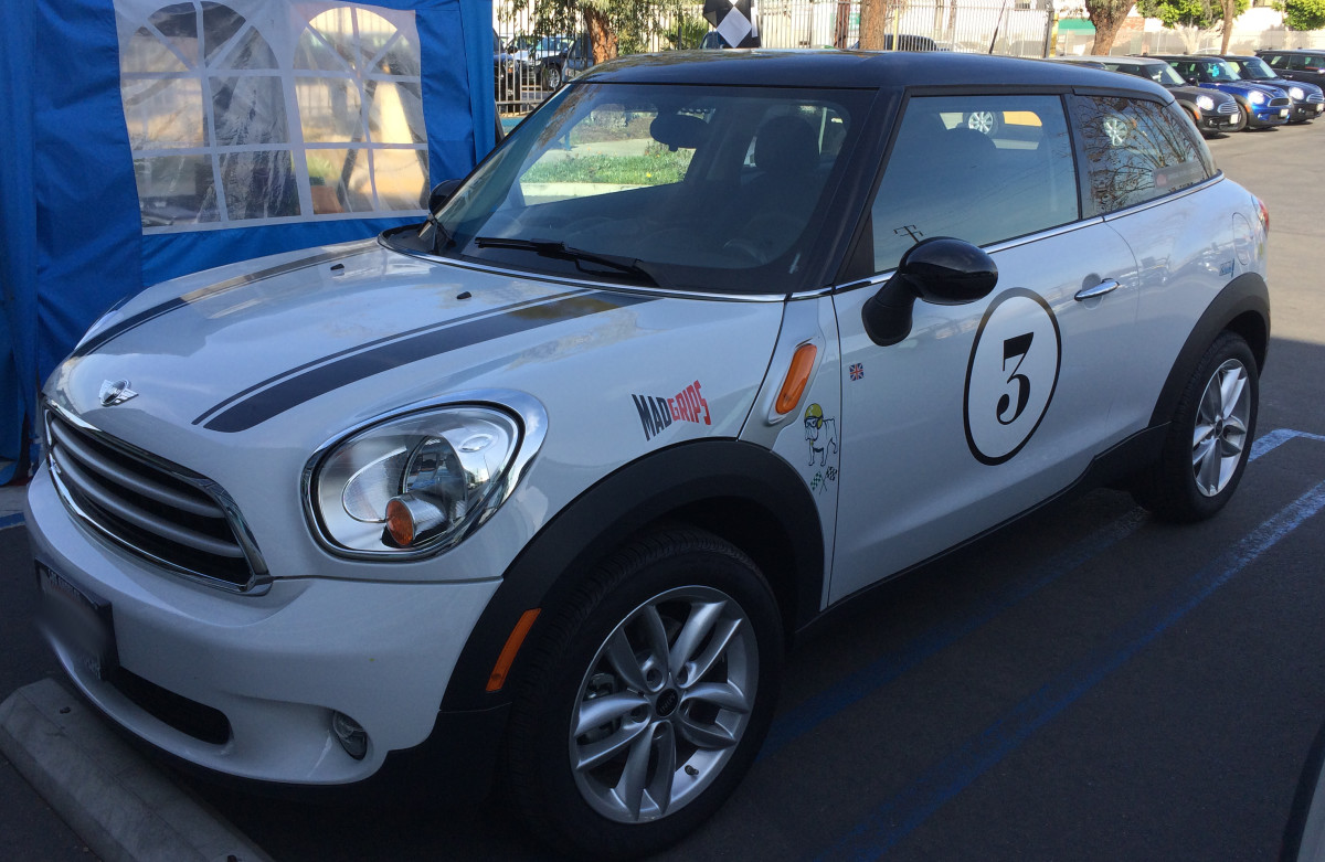 This MINI has options added after it was purchased from the dealership.