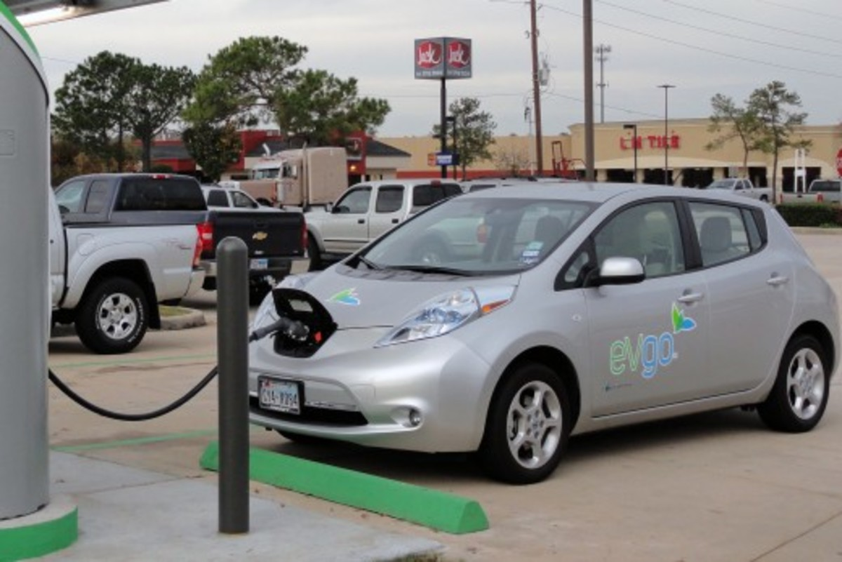 Nissan Leaf - Full Electric Vehicle without gasoline engine.