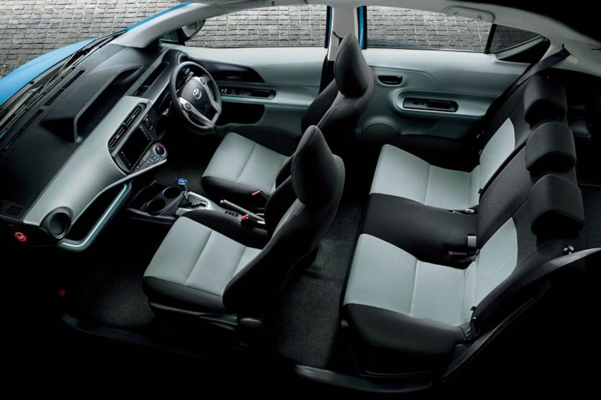 Interior of Toyota Aqua