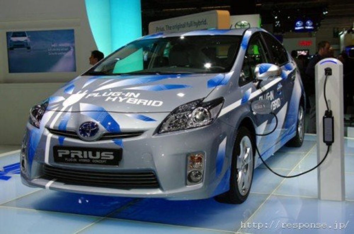 Prius PHV or Plugin Hybrid Vehicle. Can go up to 26km per charge in EV mode.In addition, it has a gasoline engine.