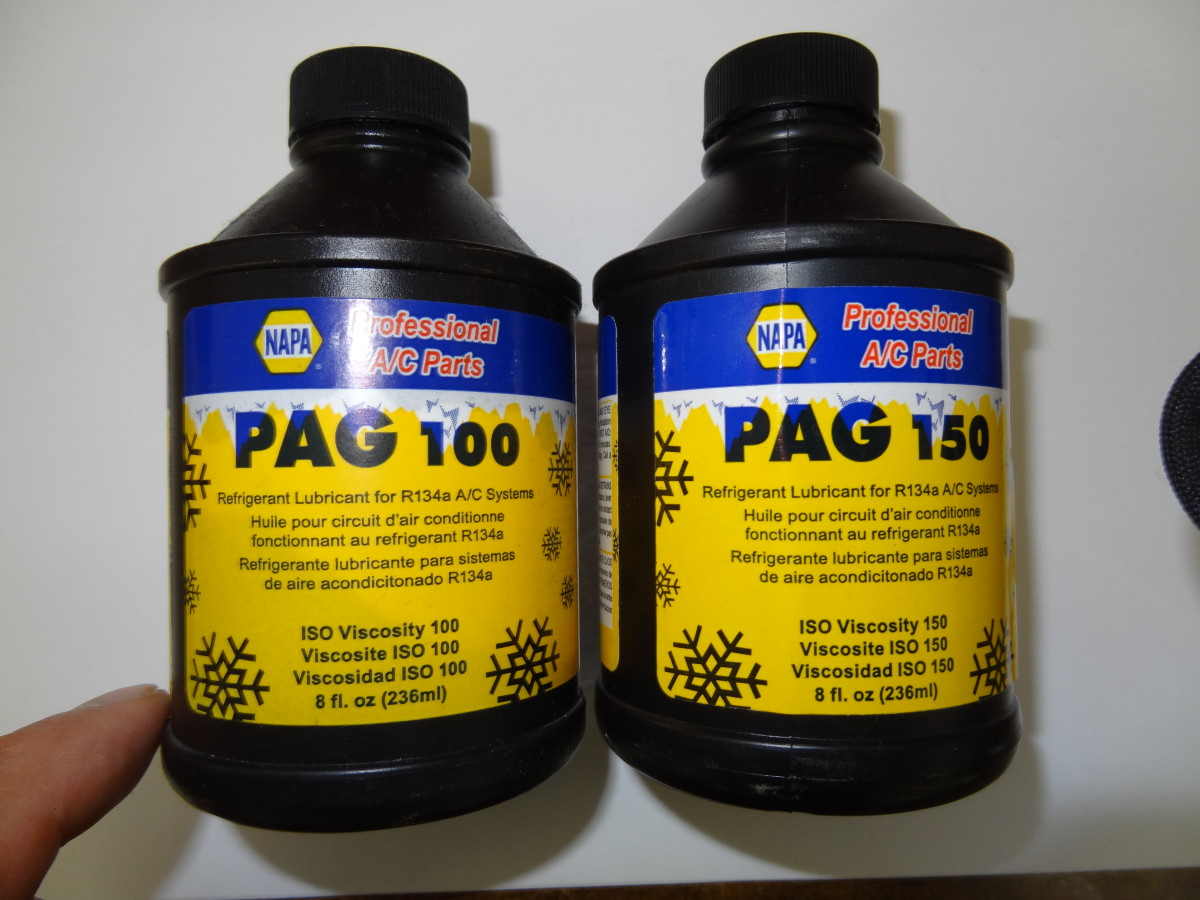 Most R134a systems use PAG oil. Make sure the specified oil viscosity (thickness) is used.