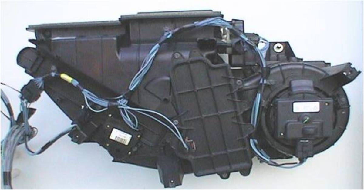 The AC Heater box or plenum is located under the dash. Electronic actuators with position sensors are very popular to move the doors to direct the airflow and control temperature.