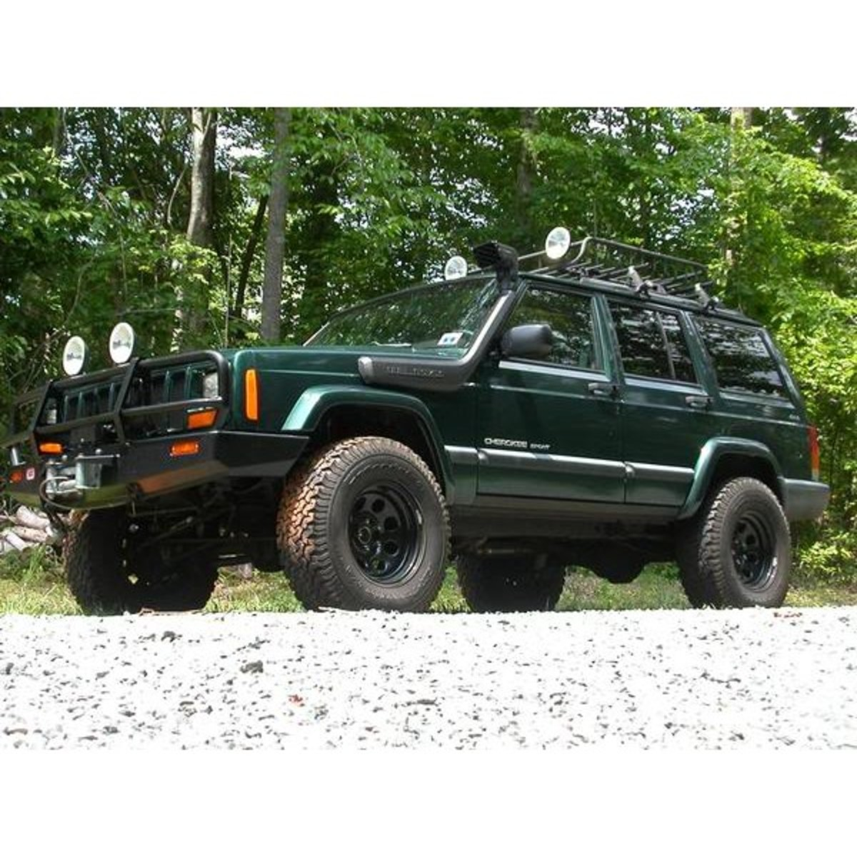Jeep Cherokee XJ With Snorkel Installed