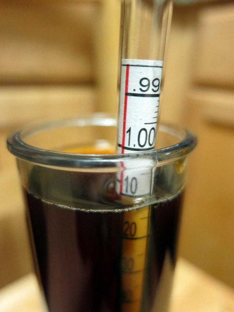 A hydrometer can measure the specific gravity of different types of liquids.