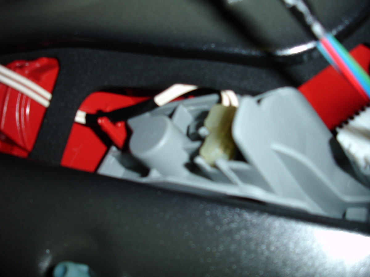 Close up of Toyota Auris tail-light assembly