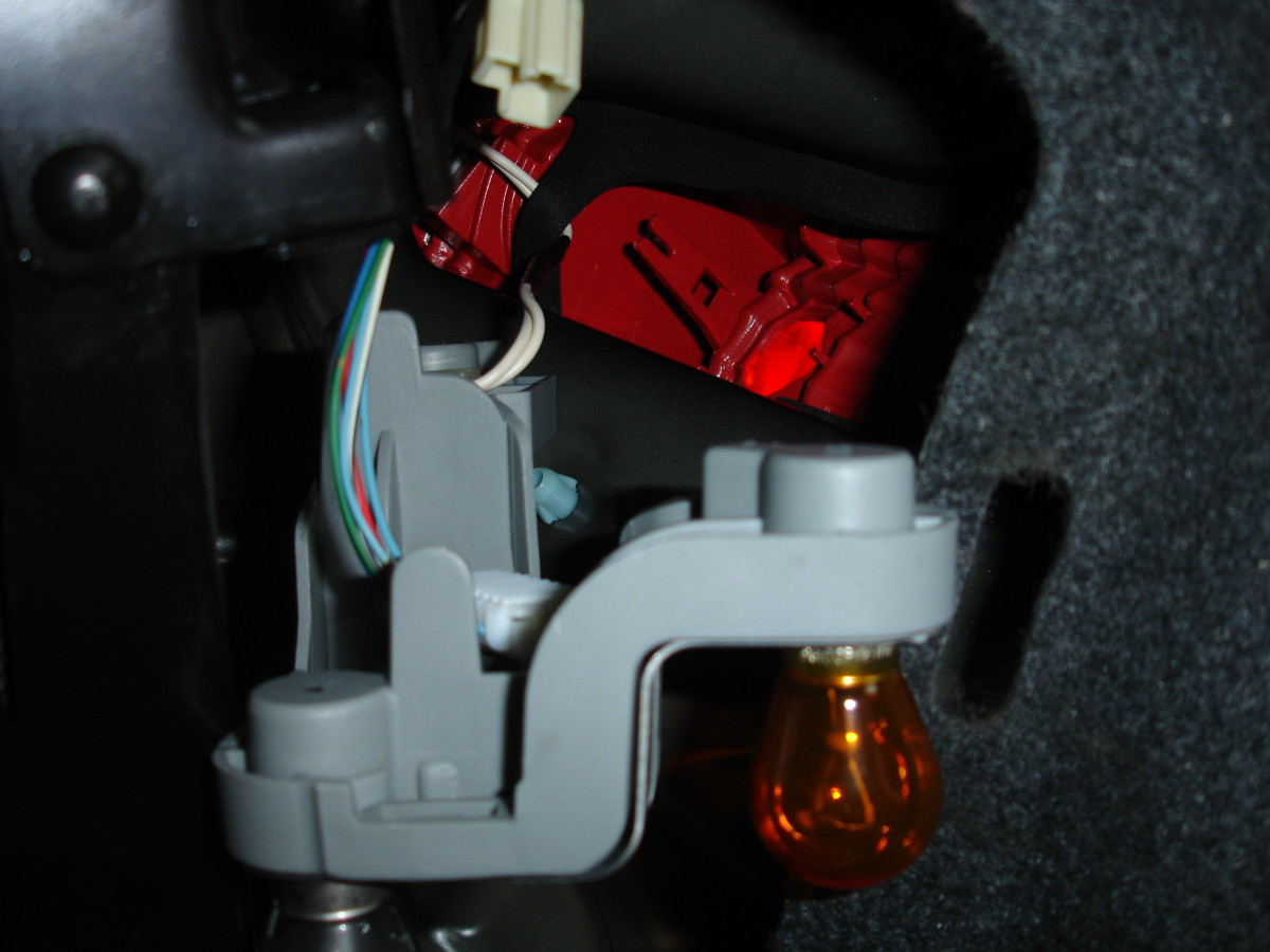 Tail-light assembly removed