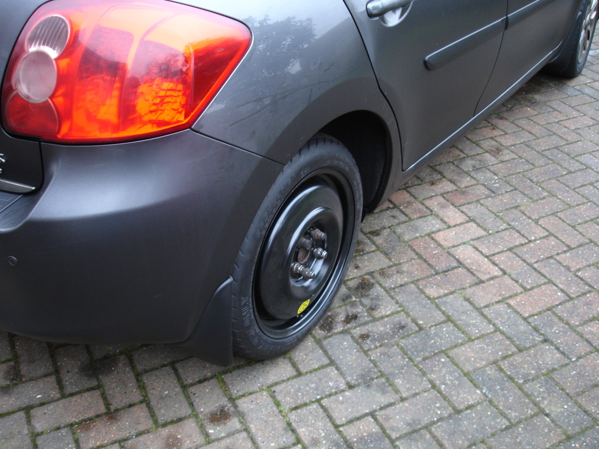 Spare tyre now installed.