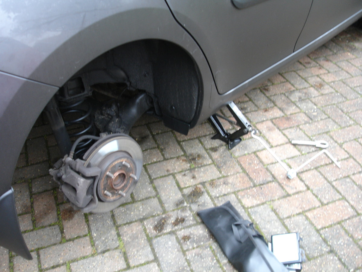 Old tyre removed