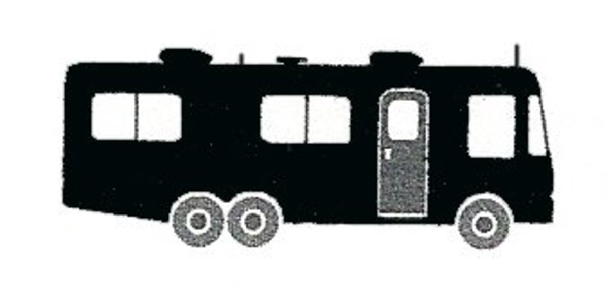 The outline of a typical Class A Motorhome