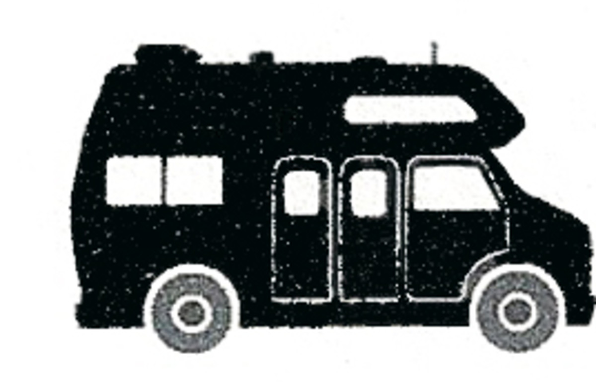 A typical Class-B Camper outline. These RVs are built by customizing vans.