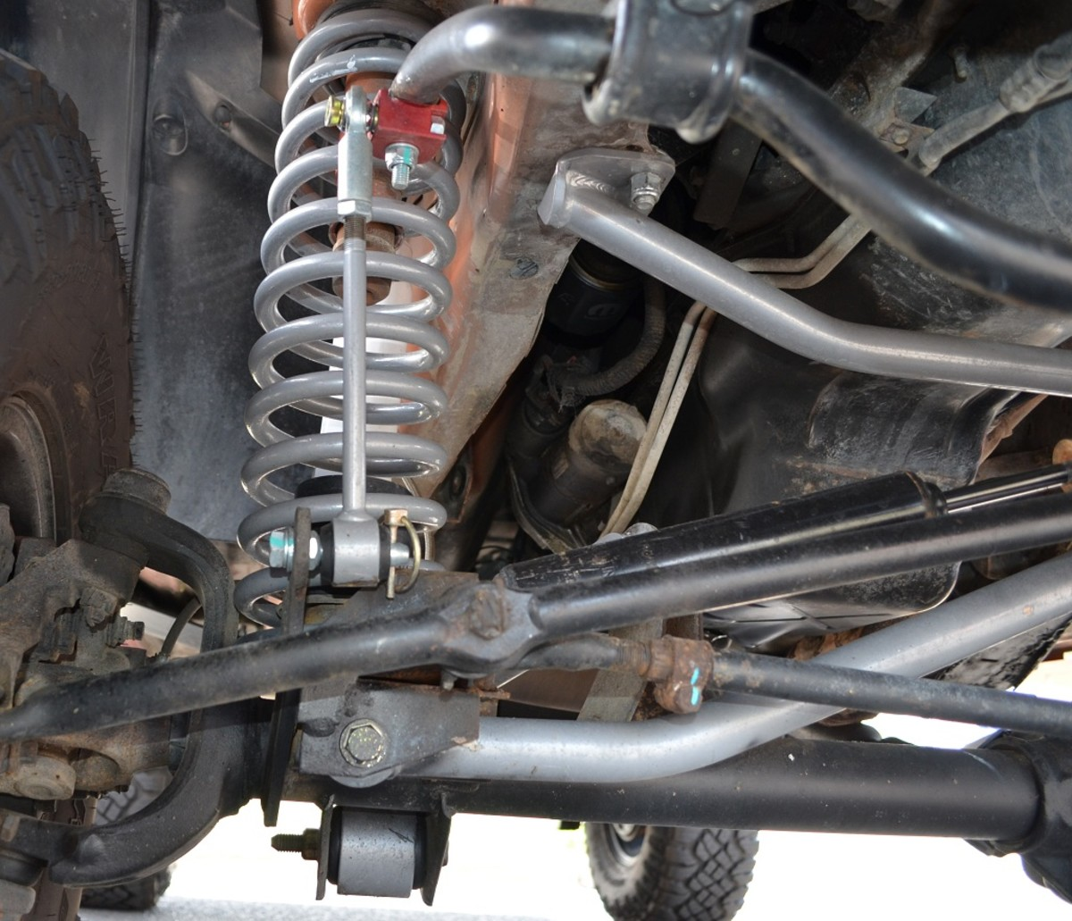 Jeep Cherokee XJ Showing Lower Control Arm Mounting Point Front View
