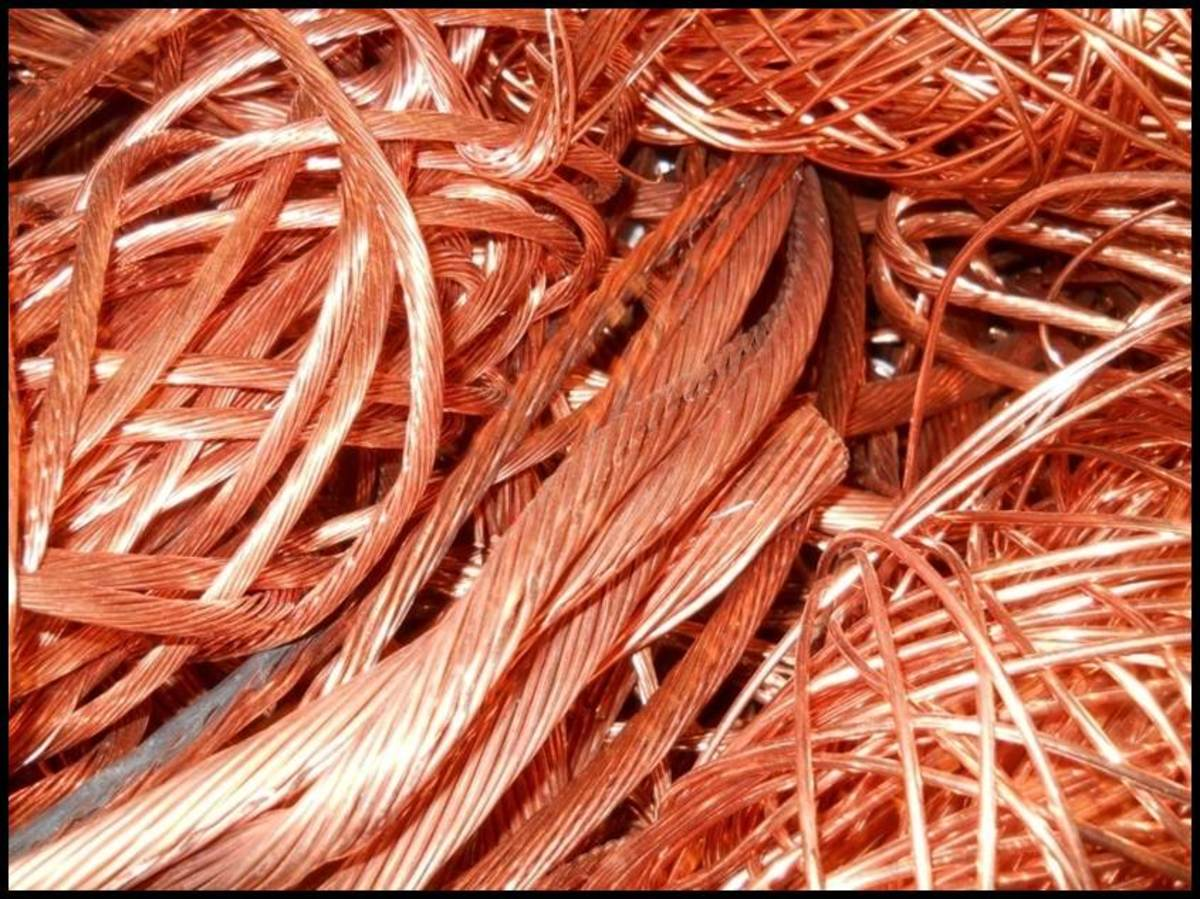 Stripped bright bare copper wire
