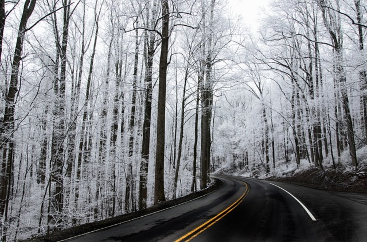Driving in bad weather conditions requires anticipation of hazardous road conditions.