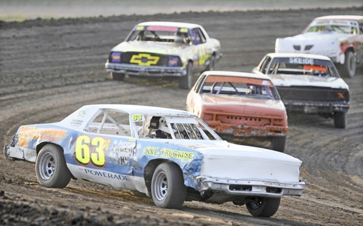 Racing action at the Brown County Speedway in Aberdeen, SD