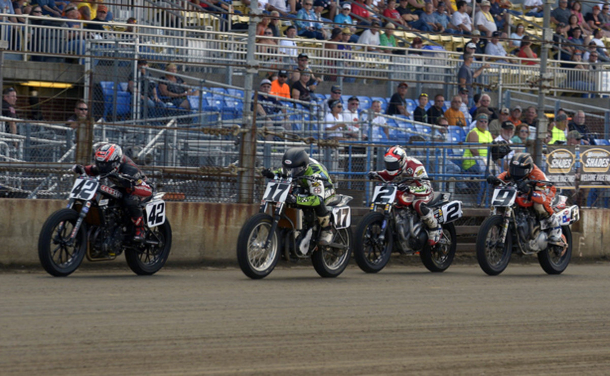 Flat Track Motorcycle Action