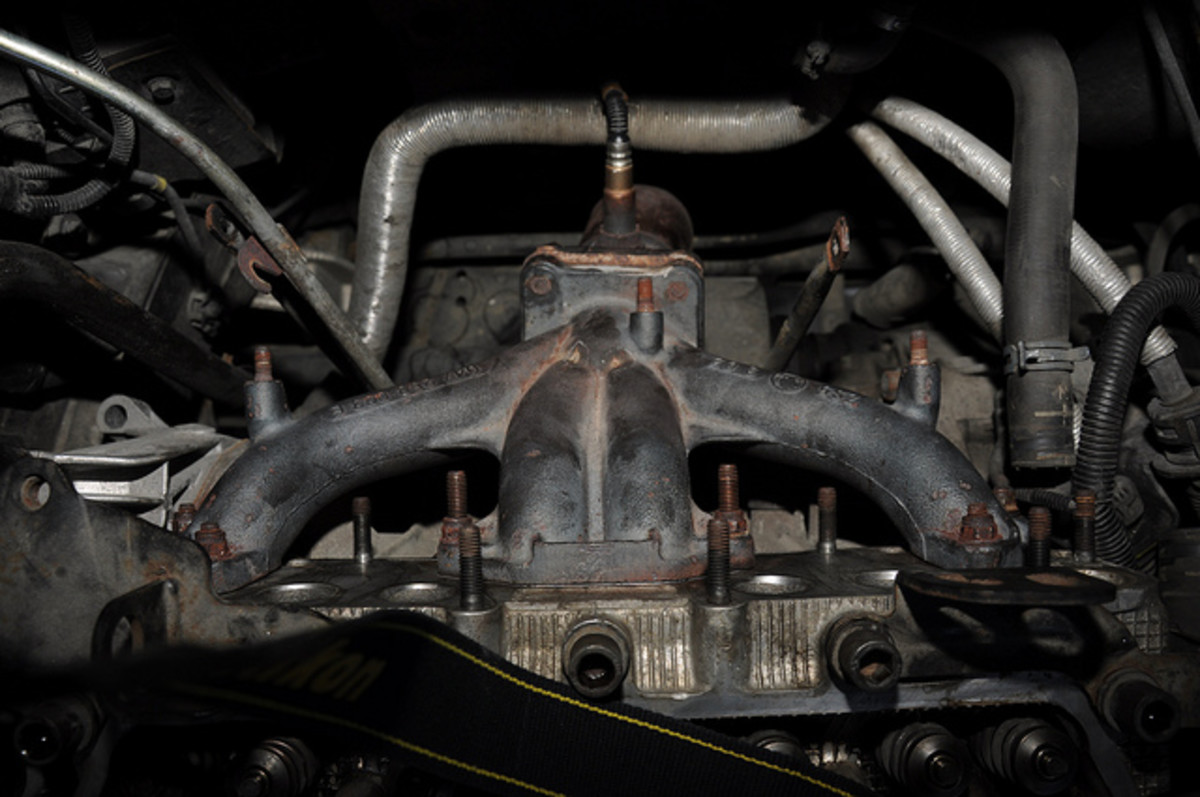 An oxygen sensor may be located near the exhaust manifold.