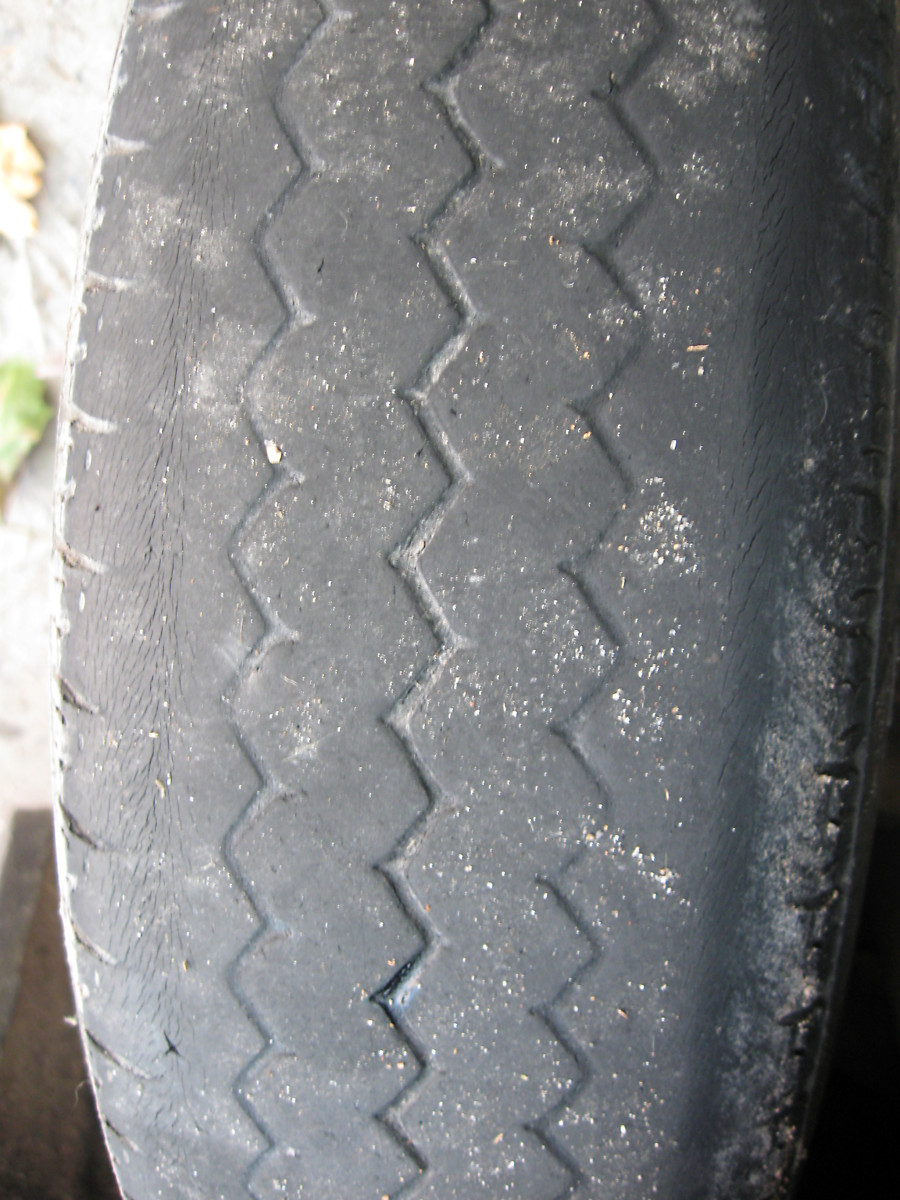 Bald tires are a serious hazard. Get them changed!