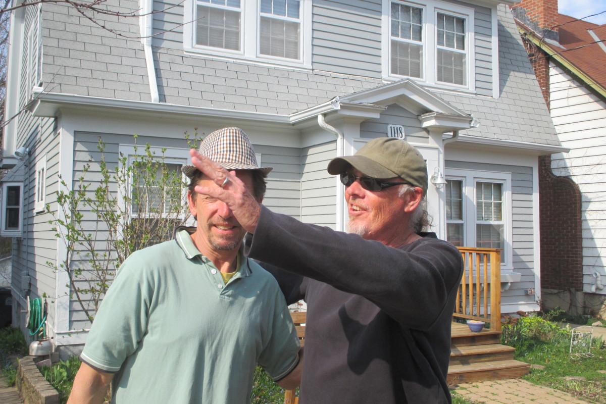 Jim greeting the neighbors