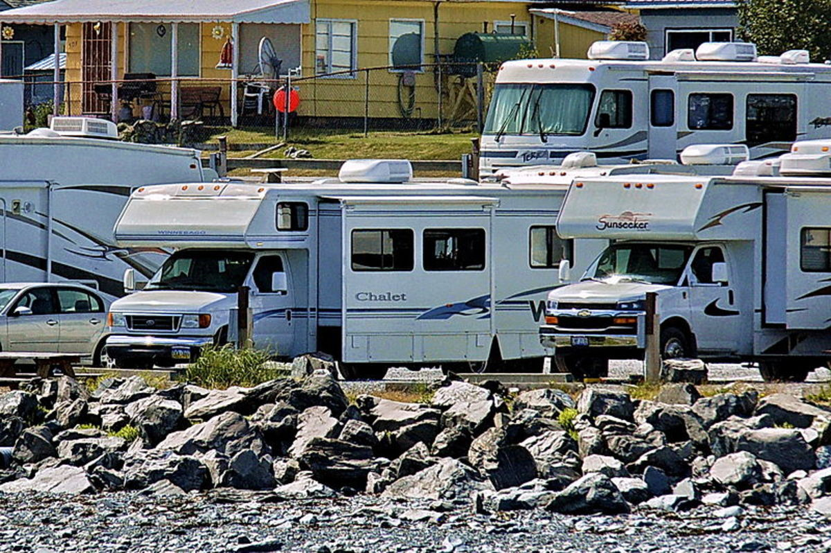 Standard RV parks often crowd sites closely.