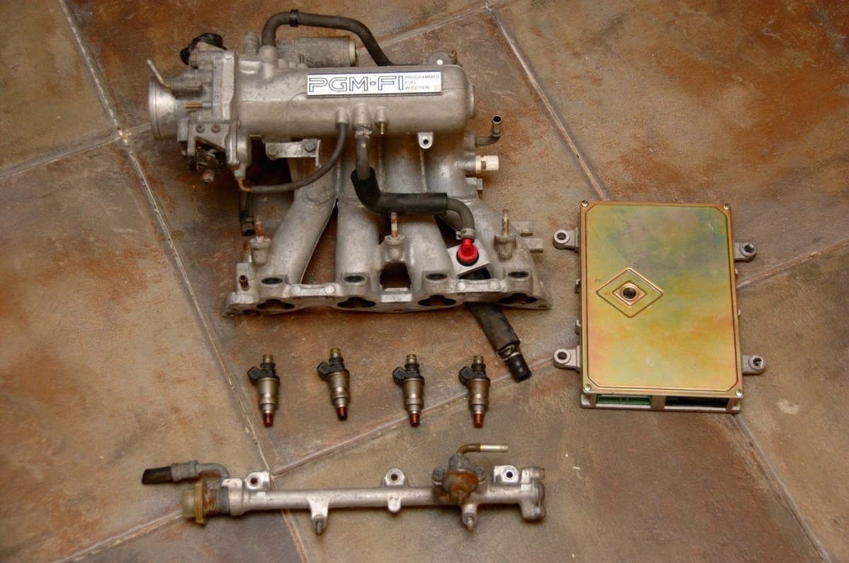 Electronic Fuel Injection system components.