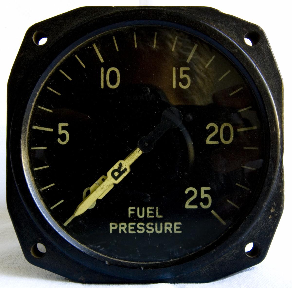 Fuel pressure gauge.