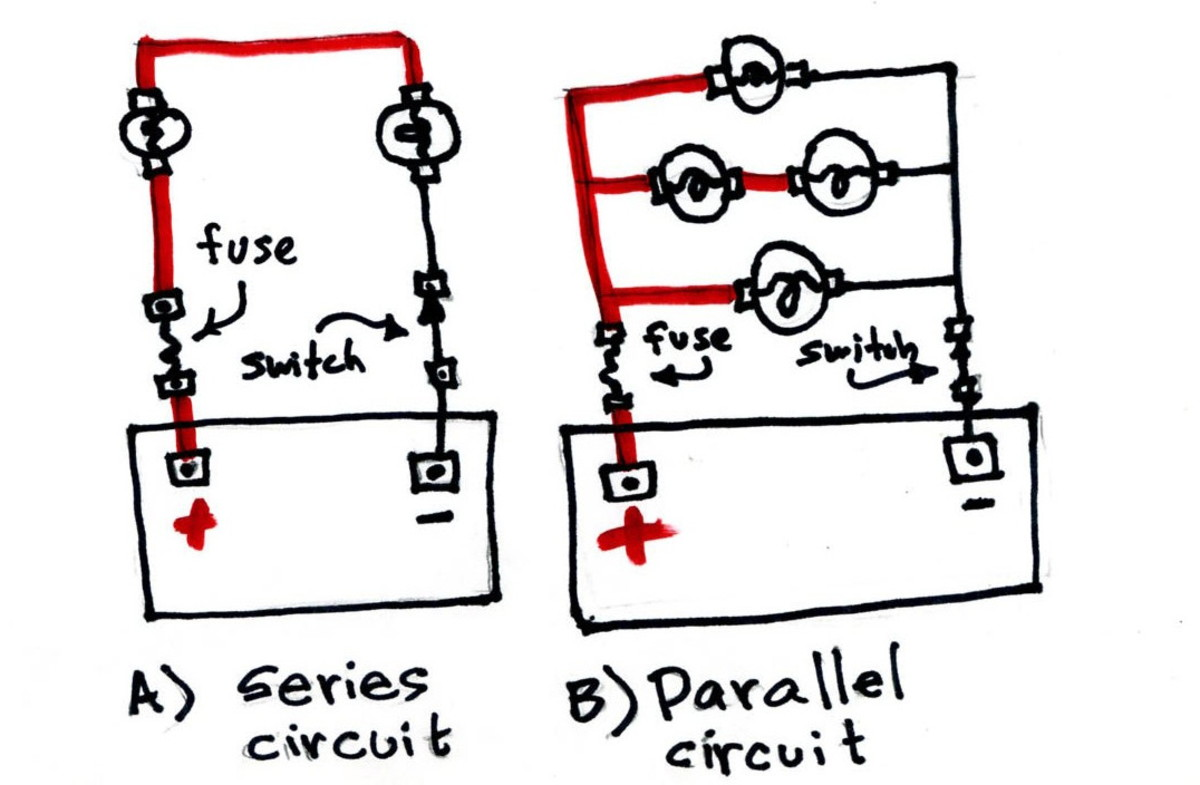 Series and parallel circuit.