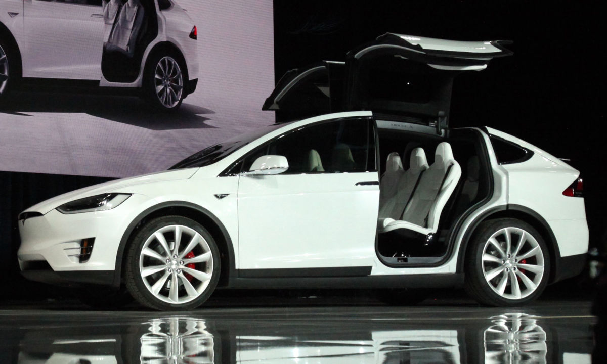 Not a Lamborghini - Model X Falcon-wing doors wide open