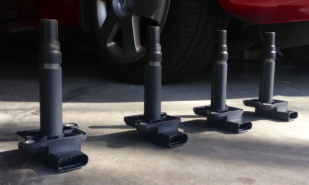 Coil Packs. (From left) Cylinders 4, 3, 2, and 1.