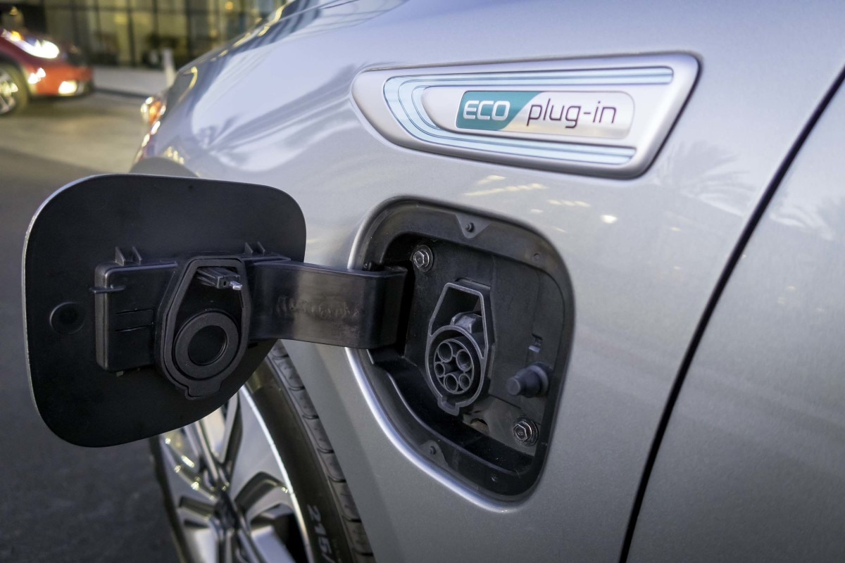 Plug in and electric vehicles can be charged at the home using a special cable.
