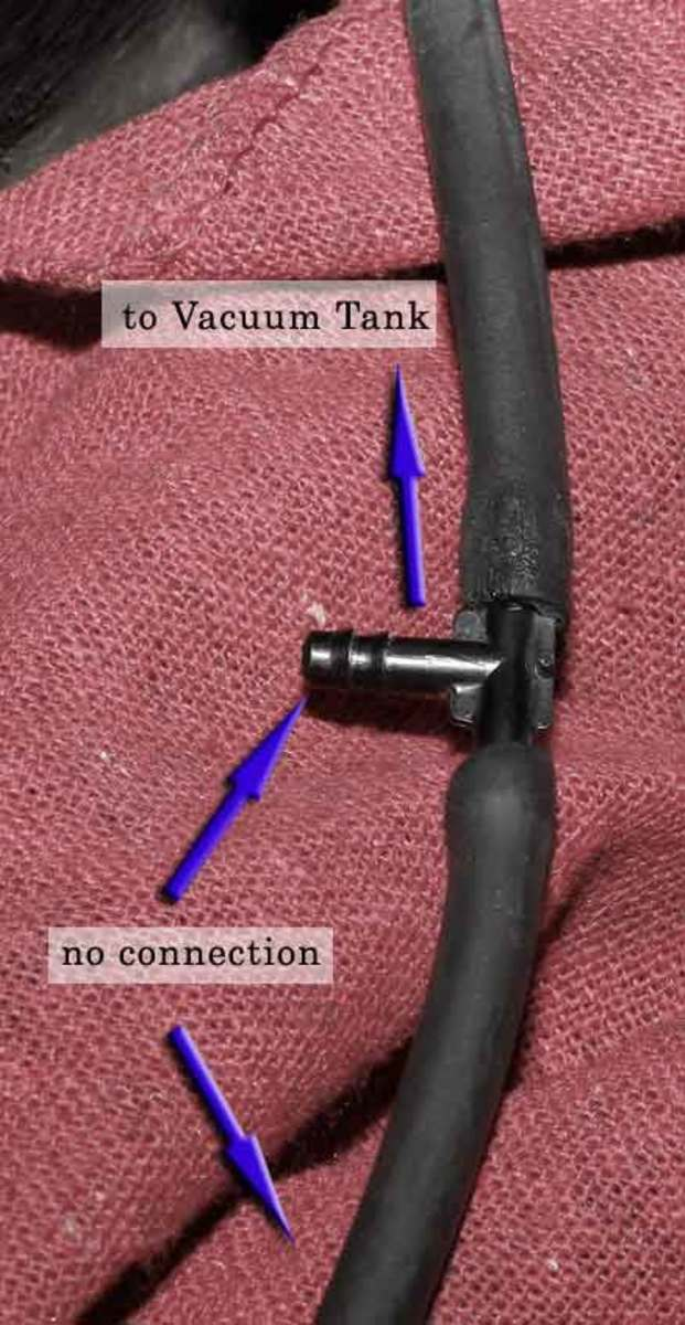 You can use a union to repair small vacuum hose leaks.