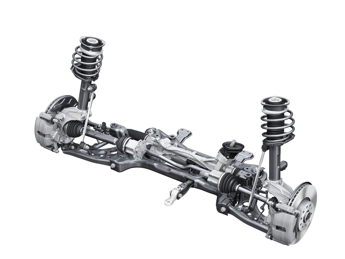 Audi Q2 McPherson independent suspension