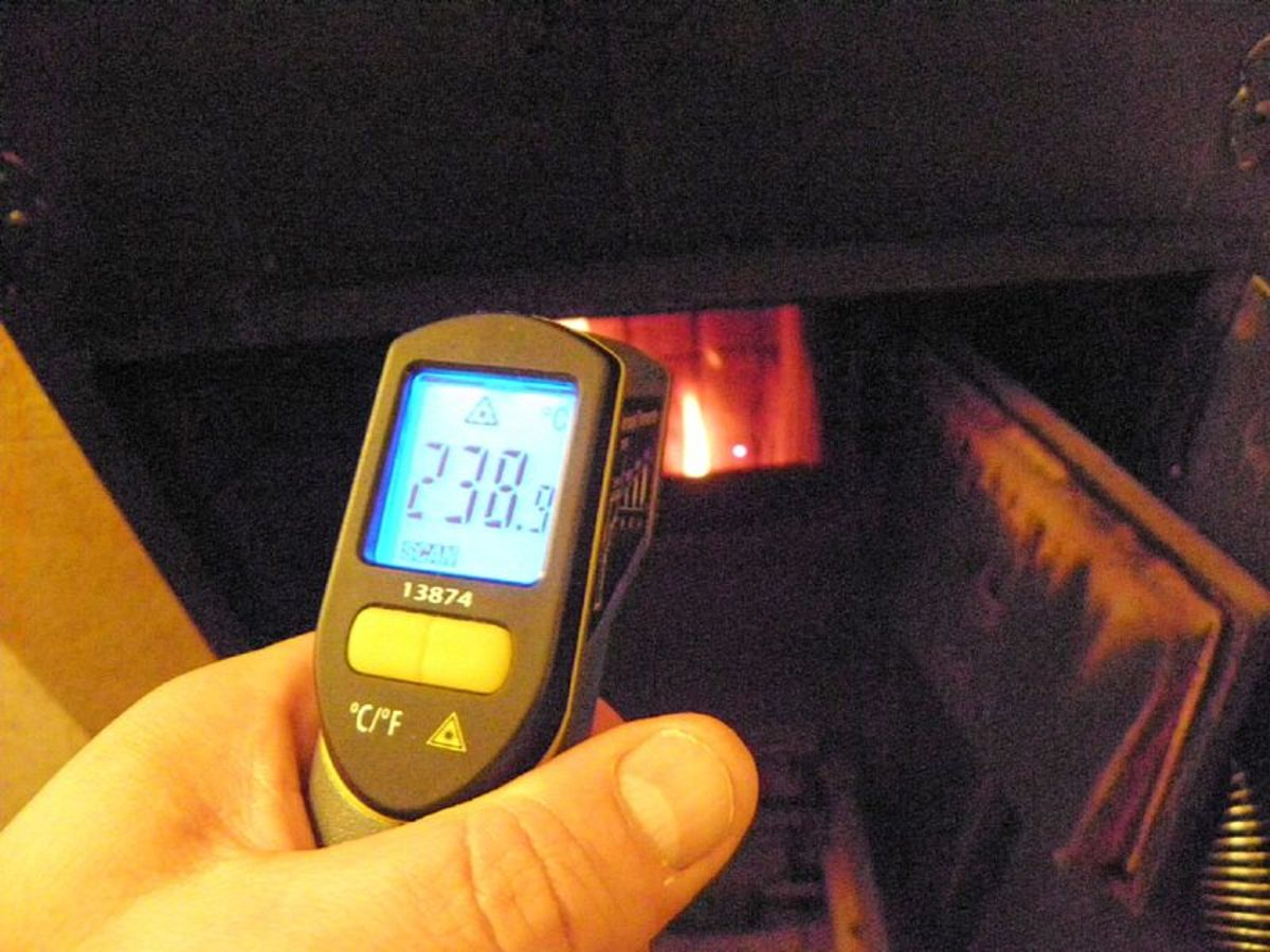 An infrared thermometer can help you diagnose a bad catalytic converter.