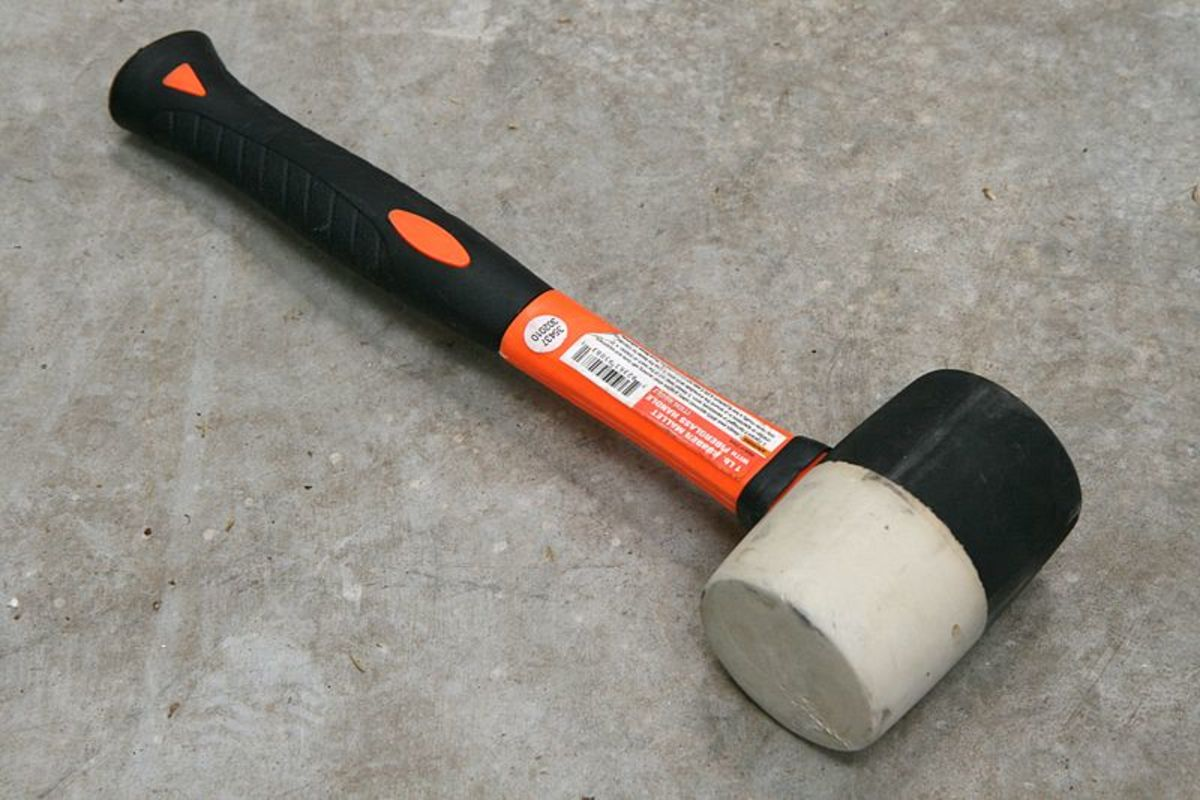 Test the condition of the substrate in a monolithic-type converter using a rubber mallet.