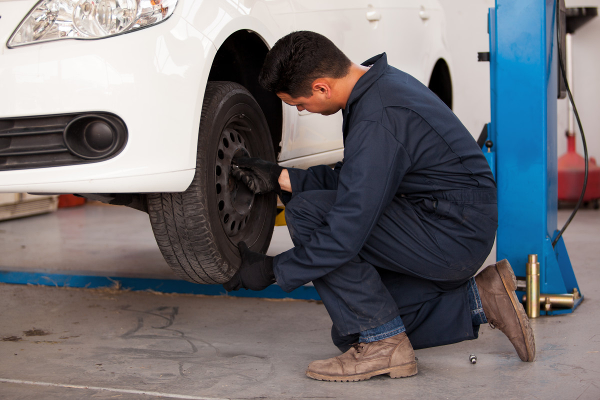Many auto shops will rotate your tires when you have your oil changed.