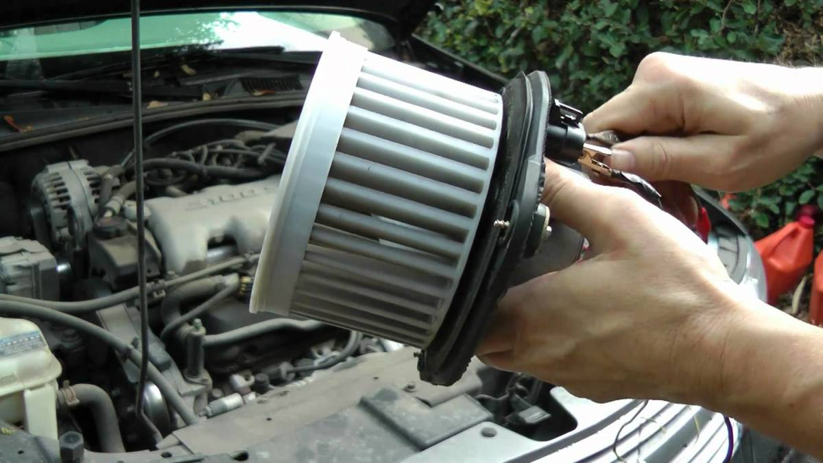 A car HVAC blower motor
