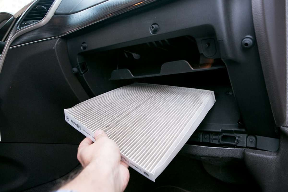 A clogged cabin air filter can make the air flow from your car's A/C weak.