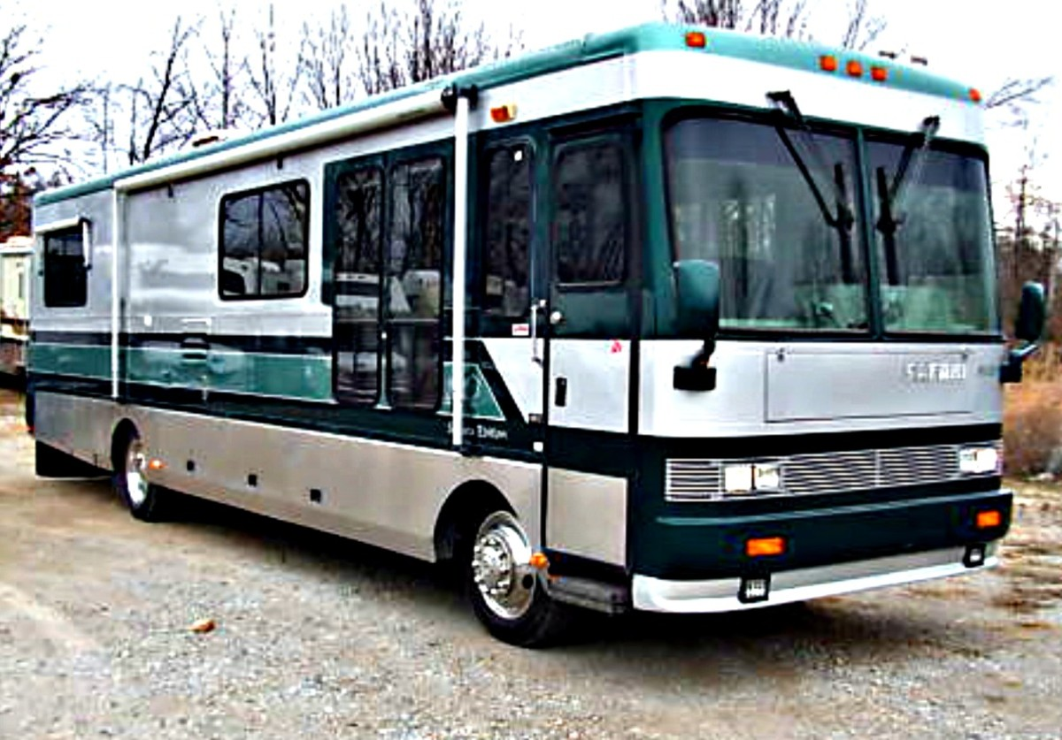 This coach looks beautiful, but it was full of black mold due to a roof leak that was never fixed.