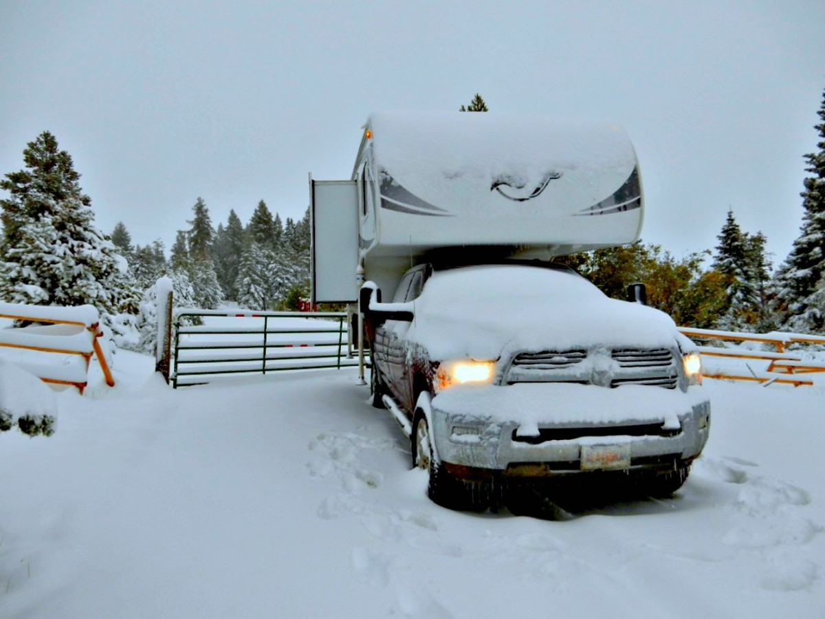 A well insulated truck camper is great for off season winter camping.